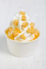 Frozen Yogurt mit Melone
