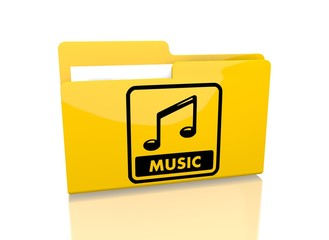 file folder with music symbol