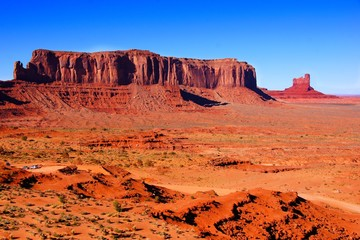 Iconic desert landscape at Monument Valley, Arizona, USA