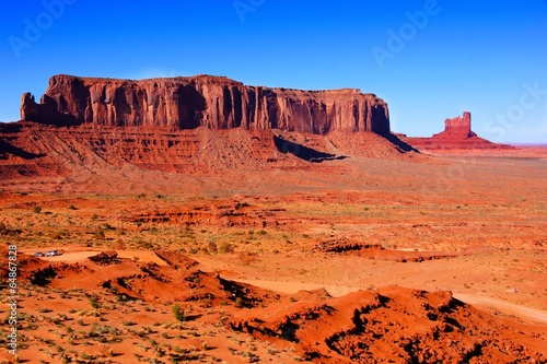 Iconic desert landscape at Monument Valley, Arizona, USA