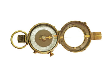 Vintage instrument - Verners Pattern Compass. Made in 1918
