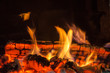 canvas print picture - Hot Coals in the Fire