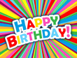 """HAPPY BIRTHDAY"" Card (message congratulations party)"