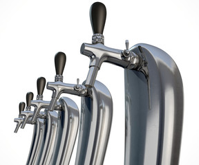 Beer Tap Row Isolated