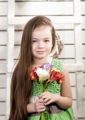 Portrait of beautiful girl. Studio photo