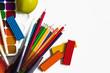 карандаши, краски, пластилин