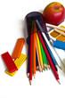 цветные карандаши, пластилин, все для творчества