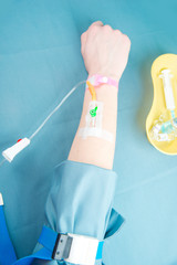 Intravenous injection, drip of medicinal product