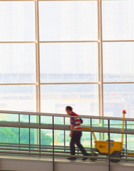 worker at the airport