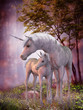Unicorn Mare and Foal - 64870422