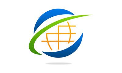 globe logo active