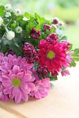 Blumenstrauß mit Platz für Text