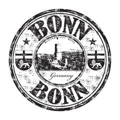 Bonn grunge rubber stamp