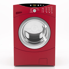 Red Washer isolated - 3d render
