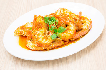 garlic sauce river prawn