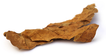 Dried tobacco leaf