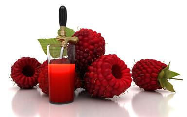 Succo di frutta al lampone, spremuta, cocktail