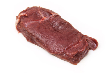 Horse meat steak.