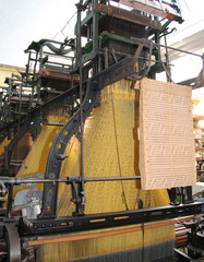 The Workings of a Large Vintage Textile Machine.