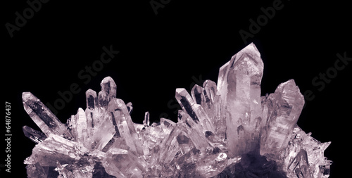 Leinwanddruck Bild crystal quartz