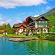 St. Wolfgang lake - beautiful Alpine lake in Austria