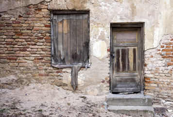 Abandoned doors and window