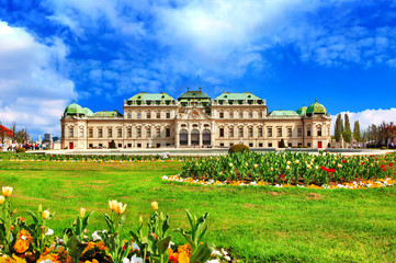 beautiful Belvedere castle, Vienna, Austria