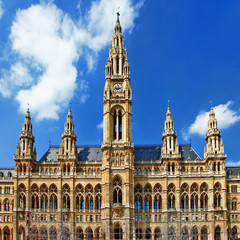 Viena, beautiful City hall. Austria