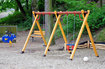 view of the playground in the forest