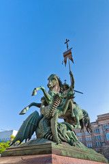 Holy St. George fighting the Dragon statue, Berlin