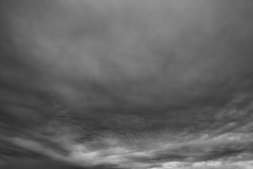 Rainy clouds.