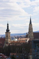 Scenic view of old center with broaches, Cluj-Napoca