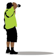 Standing Photographer