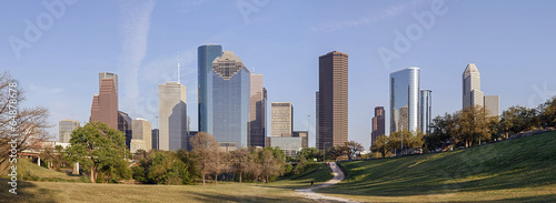 A Panorama View of Downtown Houston, Texas © kennytong