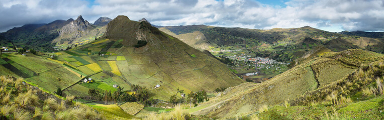 Panoramic view of Zumbahua