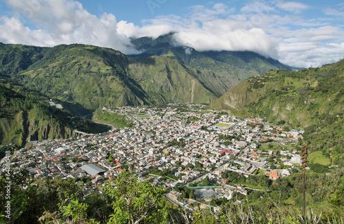 Leinwandbild Motiv City of Banos, Ecuador