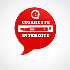 e-cigarette interdite