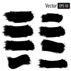 Vector black grunge banners