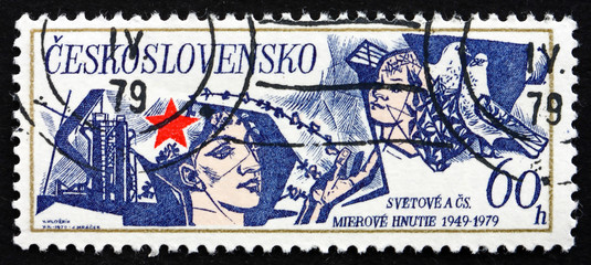 Postage stamp Czechoslovakia 1979 Peace Movement