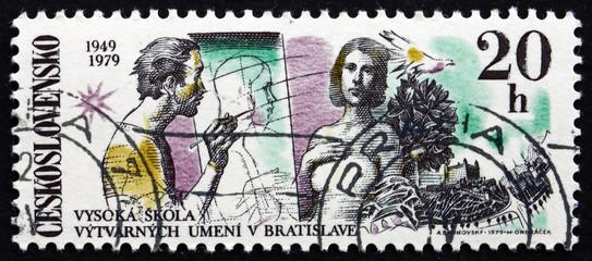 Postage stamp Czechoslovakia 1979 Fine Arts Academy, Bratislava