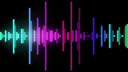 audio wave line pixel style