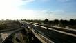 Urban scene on highway
