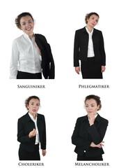 Die vier Persönlichkeitstypen