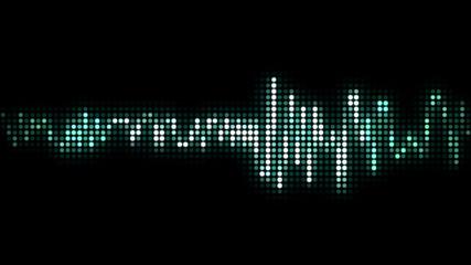 audio wave line black pixel style