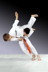 In judogi athletes are training high throws