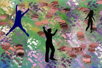 décoration, tapisserie tissus coloré nature
