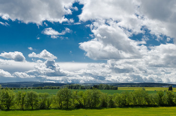 Blue sky and green lanscape