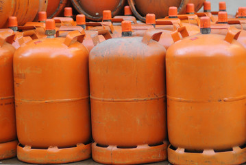 Domestic propane gas bottles