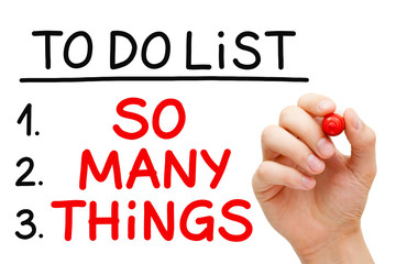 So Many Things To Do List