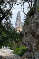 Aguglia rock pinnacle in Sardinia